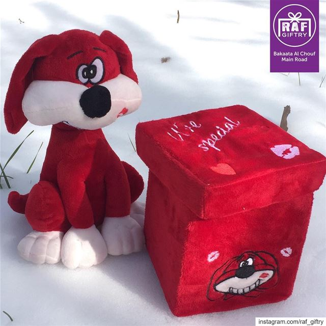 Warm feelings on a snowy day 🐶💋 raf_giftry.......... puppy ... (Raf Giftry)