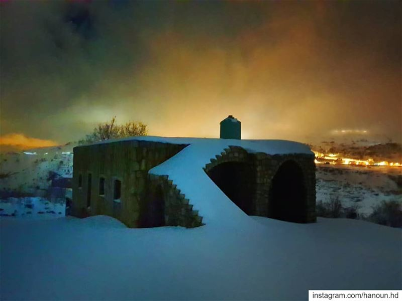 snow  snowshoeing  moon  night  snowshoeingnight  lebanon ... (Lebanon)