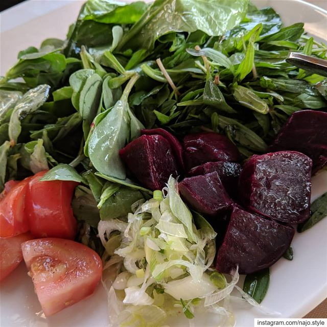 salad  vegetablessalad  fresh  dinner  dinnertime  yummy  instayummy ...