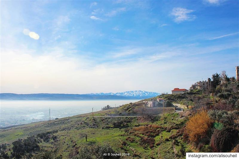 bekaa  valley  tb  fog  clouds  mountains  sky  nature  lebanon ... (Chtaura)
