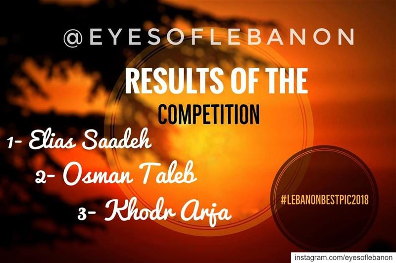Congratulations to all the winners of  lebanonbestpic2018 competition 🎉🎉� (Beirut, Lebanon)