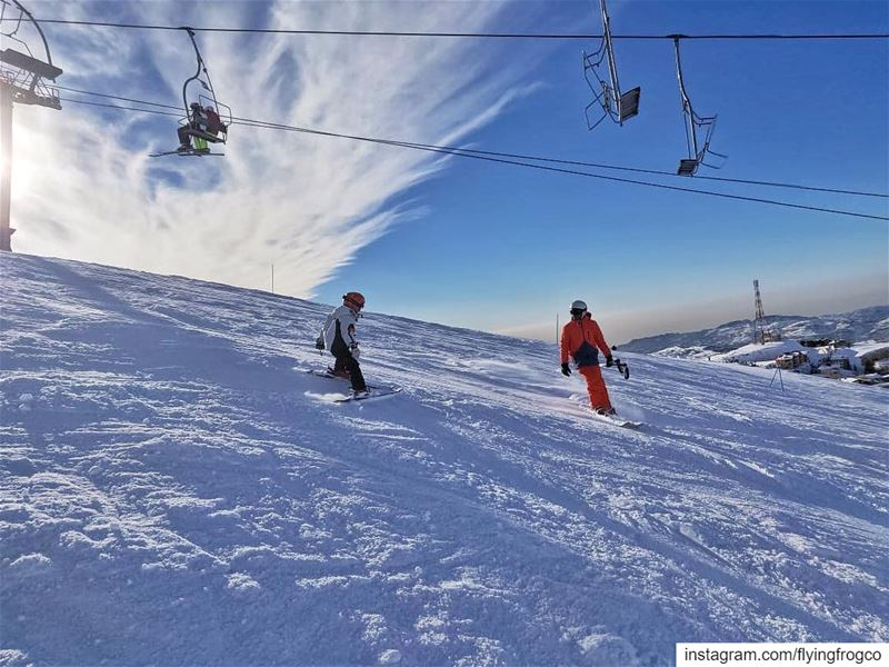 A snap from our weekend, how was yours?!..... flyingfrog ... (Mzaar Ski Resort Kfardebian)