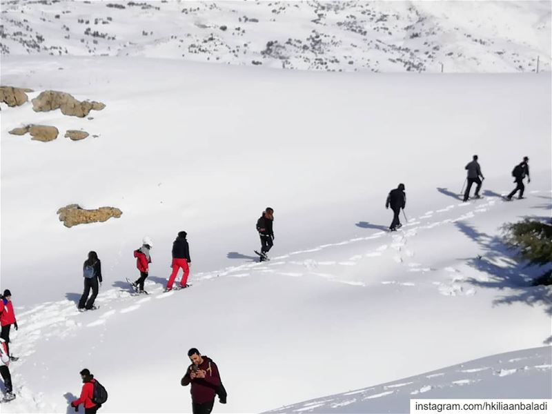 Are you ready?! Snowshoeing in few days!... HkiliAanBaladi ...