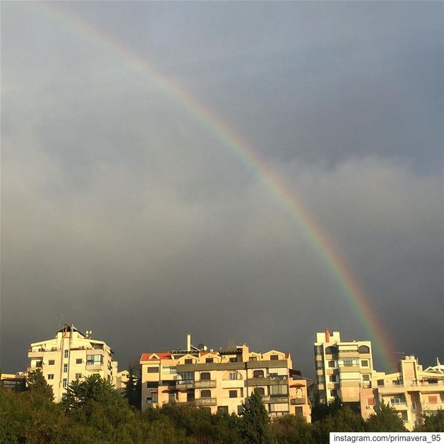 rainbow  colors  rainbow🌈  beautiful  nature  naturephotography ... (Ballouneh, Mont-Liban, Lebanon)