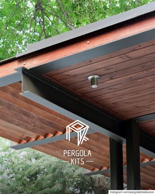 New H Structure Steel with Wood Roofing!  PergolaKitsLebanon PergolaKits...