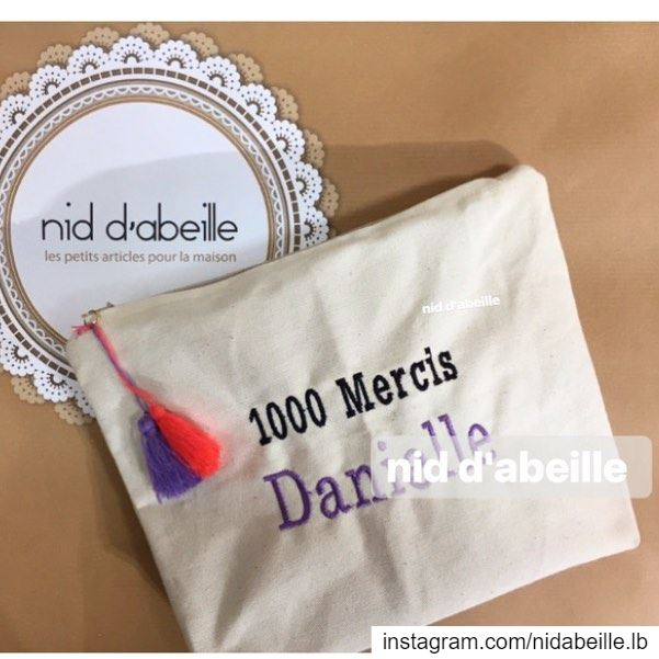 Teachers day 🎁 Write it on fabric nid d'abeille  keychain  pouch  totebag...