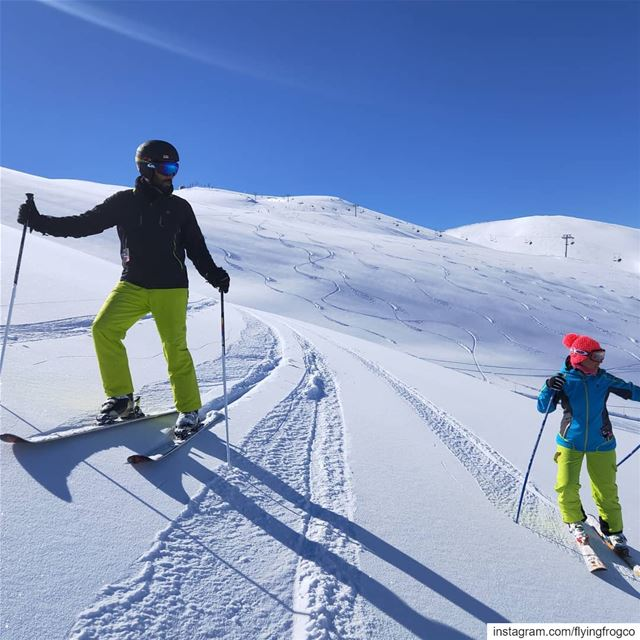 From last week's  POWPOW session. Off-piste sessions: lots of fun and a... (Mzaar Ski Resort)