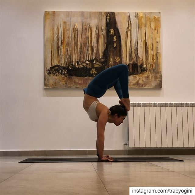 Who shares the love of scorpion pose? Join my class at @mandalabeirut...