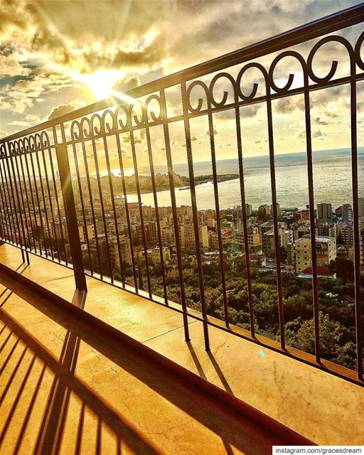 Between the lines ☀️....... Sun  Sunset  City  Bay ... (Sahl `Alma, Mont-Liban, Lebanon)