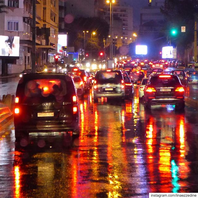 The only colorful lights in the city that never sleeps...... beirut ... (Achrafieh, Lebanon)