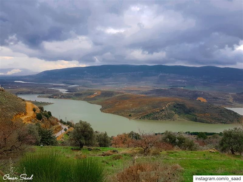 Beautiful  qaraoun  river  lake  landscapephotography west beqaa  lebanon... (El Qaraoun, Béqaa, Lebanon)