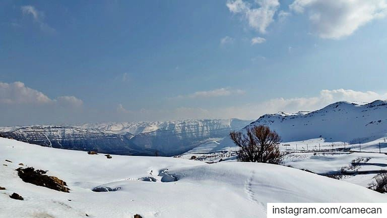 lebanon  winter  season  snow  mountains  laqlouqvillage ...