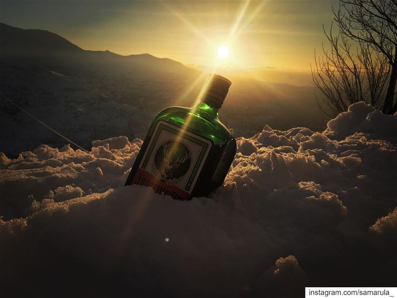 Release the beast 😉  samarula  sunset  view  jagermeister  drink  alcohol... (Cedars of God)