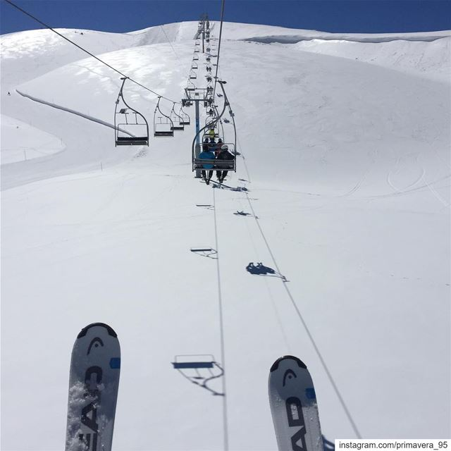 snow  ski  dayoff  mountains  lebanon  sunny  outdoors  slopes  skilift ... (Faraya, Mont-Liban, Lebanon)
