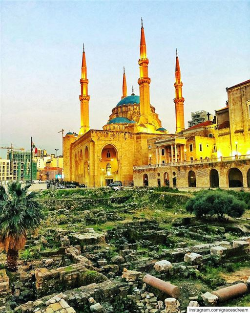 Beirut the city where  Mosque &  Church stand side by side ✝️💟☪️ In... (Beirut, Lebanon)