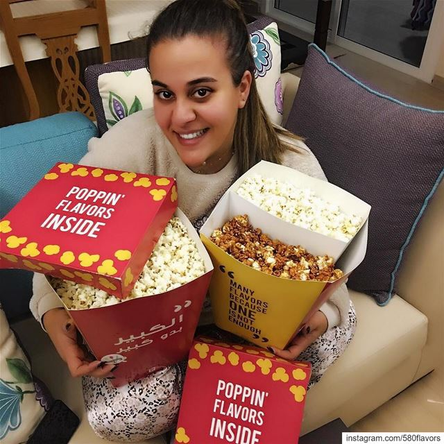 Popcorn nights are the best decision you can make every night🍿 order this... (Ad Dikwani, Mont-Liban, Lebanon)