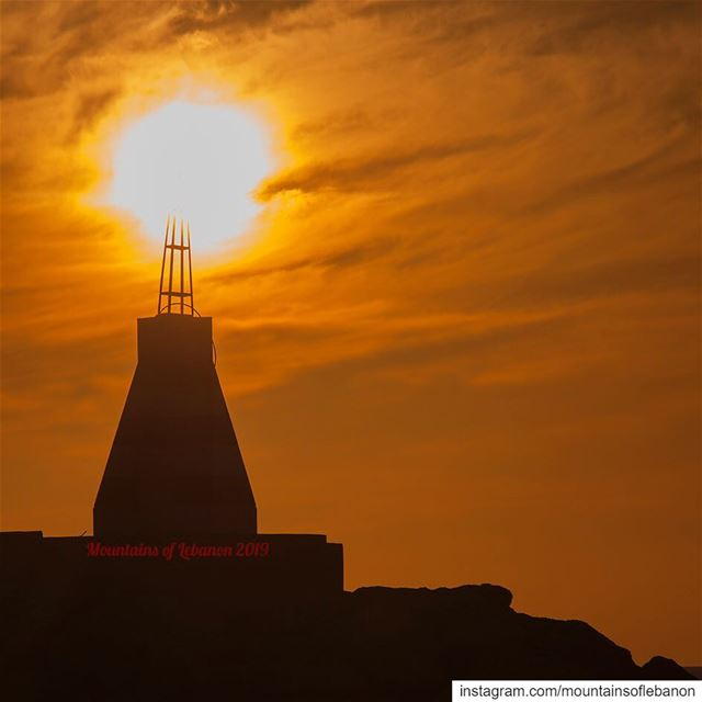When the sun hits the lighthouse and burns! sunset  leb_sunset ...