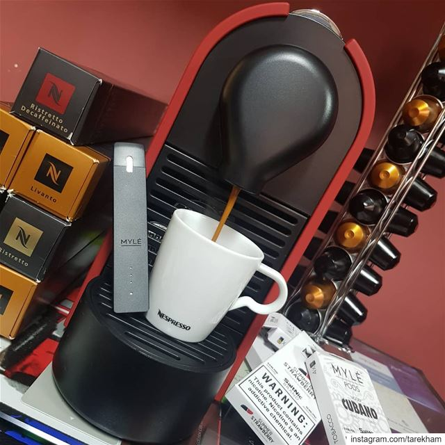 Nespresso. what Else?... MYLÉ!... nespresso  coffee  morning  lebanon ...