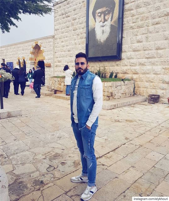 Jeans are always a good idea ! ............ me  like ... (Mazar Saint Charbel-Annaya)