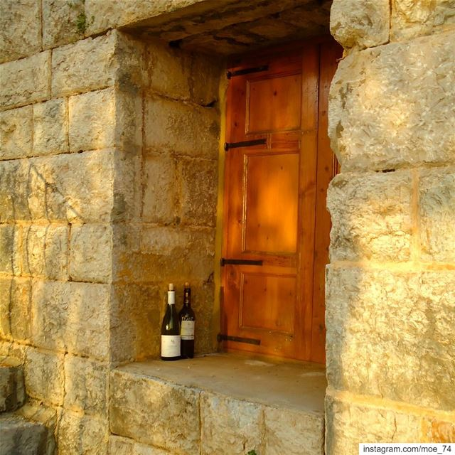 Every empty bottle is filled with stories... wine  winebottle  memories ... (Maasser Ech Chouf, Béqaa, Lebanon)