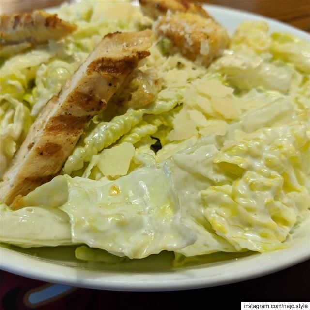 chickencesarsalad  salads  saladwithchicken   iceberg   cheese  yummy ...