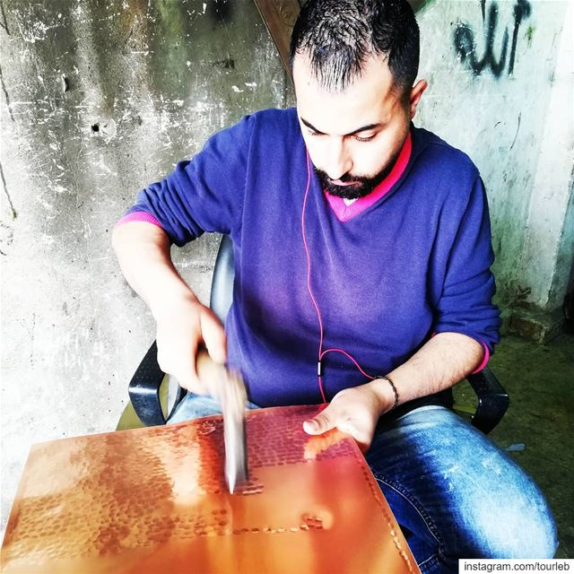 Copper artists. A hand made industry. tourleb  tourlebanon  lebanontimes ... (Al Qalamun, Liban-Nord, Lebanon)