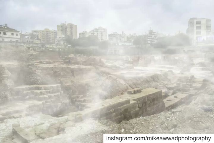 This was the great roman wall of the old city Beirut, it was demolished...