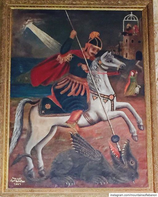 April 23 St Georges Feast Day! Saint Georges is the Saint Patron of Beirut! (Paroisse St. Georges Hadat)