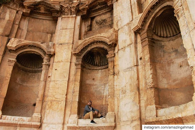 """Learn to look up now and then, just in case a piano is falling from... (Baalbek, Lebanon)"