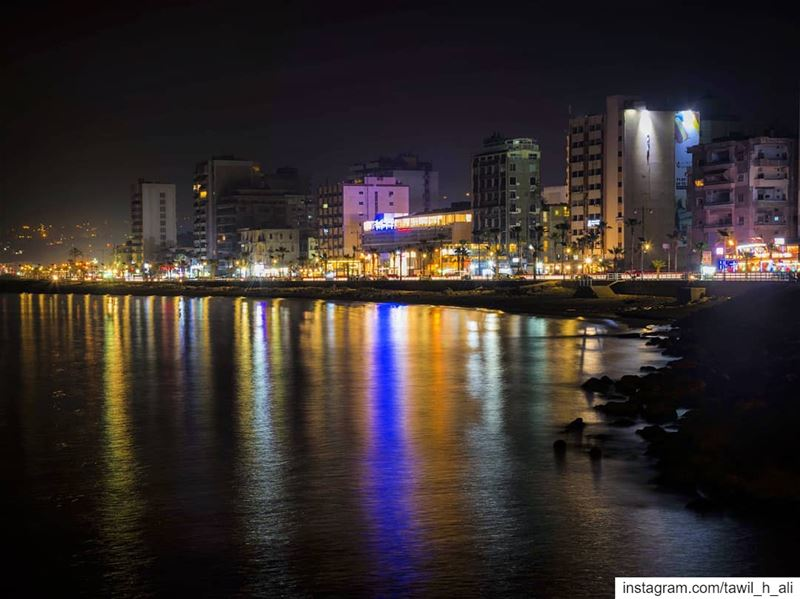Colorful Lights ☄️🏙-------- landscape  seascape  reflection ... (Cornish Saida)