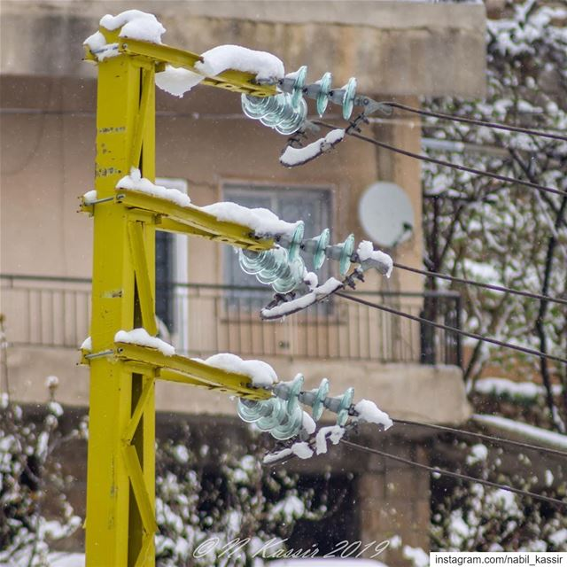 electric  poles  snow  cables    Lebanon  ig_great_shots_me  bd_shotz ... (Baskinta, Lebanon)