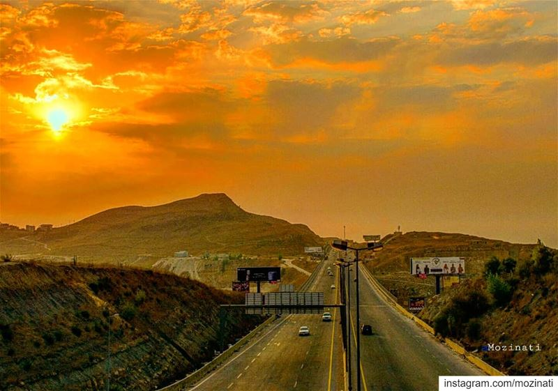 The Road is life..==================================  sunsetporn ... (Daher El Baydar)