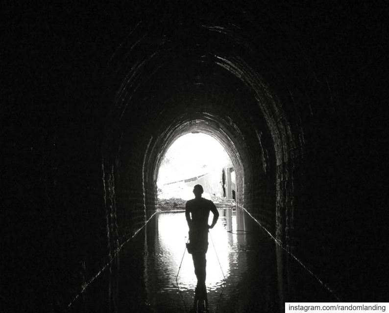 Of People and Tunnels, cont'd! tunnel  blackandwhitephotography leburbex... (Dahr El Baïdar, Mont-Liban, Lebanon)