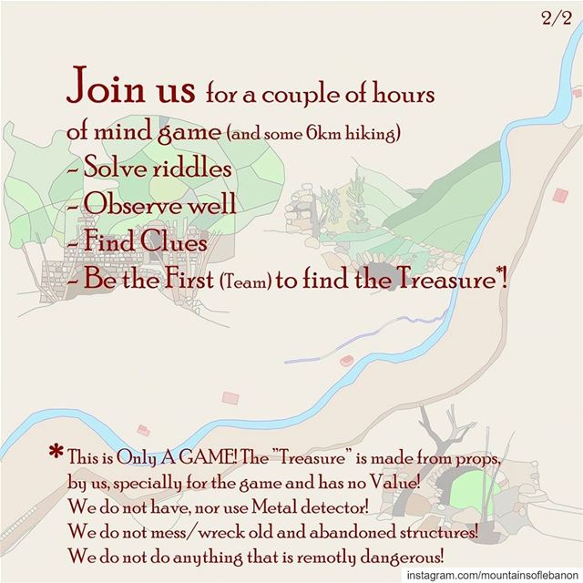 Saturday May 11, Join in for a Treasure Hunt (Only a Game)!  riddle ...
