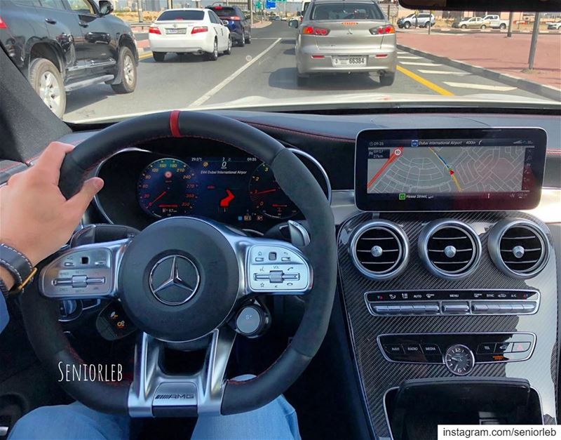 The New steering and digital instrumental cluster looks so good on the C63... (Dubai, United Arab Emirates)