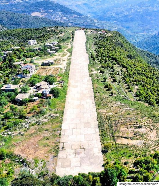 Baadaran secrete airport , was build during civil war by the PSP but never... (Baadarâne, Mont-Liban, Lebanon)