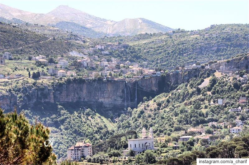 jezzine  lebanon  livelovejezzine  wadijezzine  waterfall  mountains  sky... (Jezzine District)