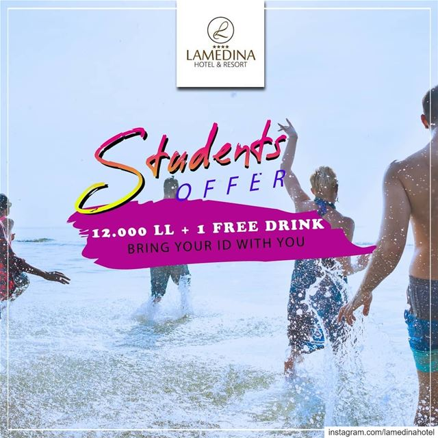Students ! Show us your current student ID and pay only 12.000 LL + 1... (Joünié)