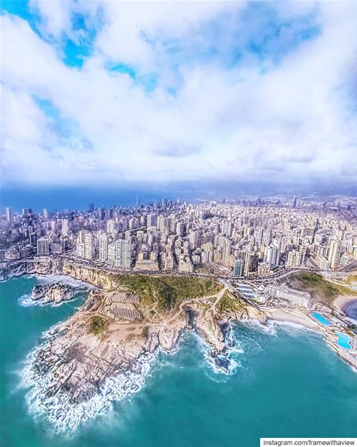 بحبك يا بيروت 💙 Beirut, I love you.Always the best view to come home to... (Beirut, Lebanon)
