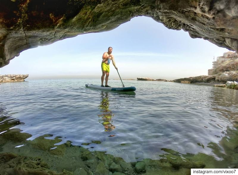 Sorry, couldn't make it. Had a board meeting.... sea  water  sup ... (Batroûn)