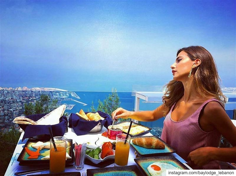 Breakfast with a view🌞🌈📷@krystelelhelo GoodMorning  BeautifulLebanon ... (The Terrace - Restaurant & Bar Lounge)