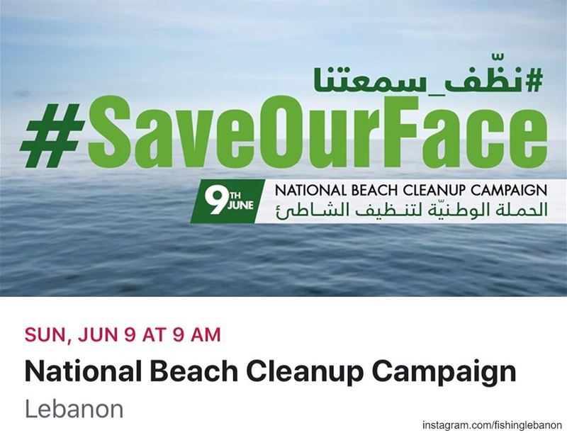 Help us support National Beach Cleanup Campaign on June 9, 2019 (9:00 AM).... (Lebanon)
