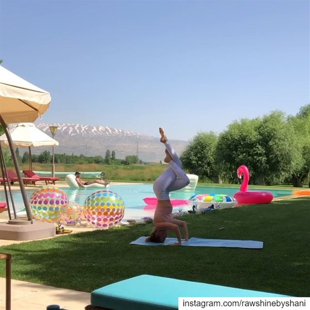 I love practicing my yoga in pretty places.Beautiful sunny Anjar with... (`Anjar, Béqaa, Lebanon)