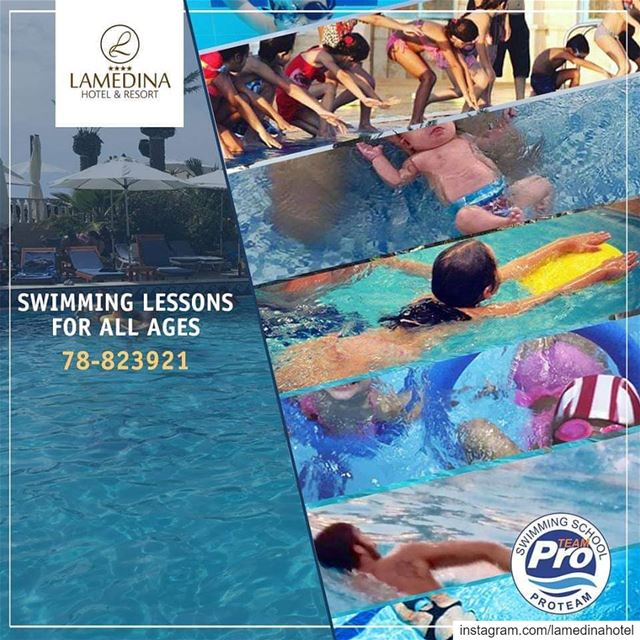 SwimmingLessons for all ages 🔹1 month 🔸8 sessions 💦250.000LL INSTEAD... (Joünié)