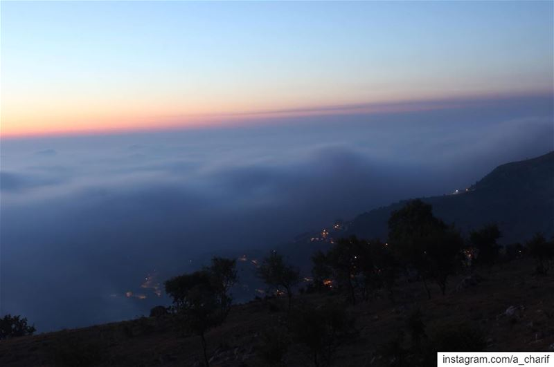 When the villages are covered by the clouds and you are standing above.... (Jezzîne, Al Janub, Lebanon)