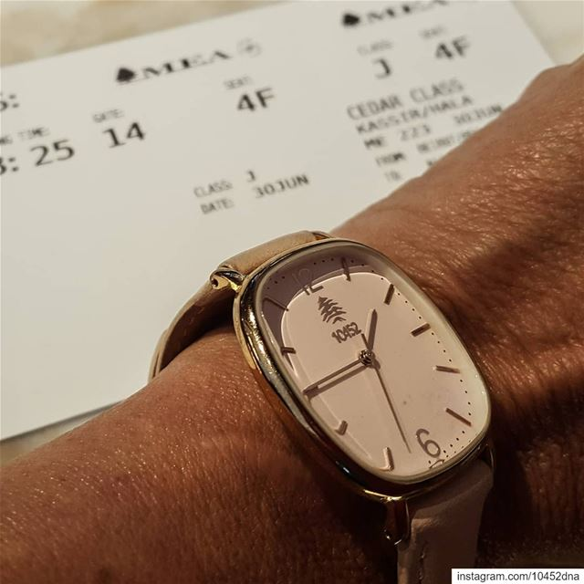 vacation  mood but not without my  10452dna  melrose  watch ... (Beirut–Rafic Hariri International Airport)