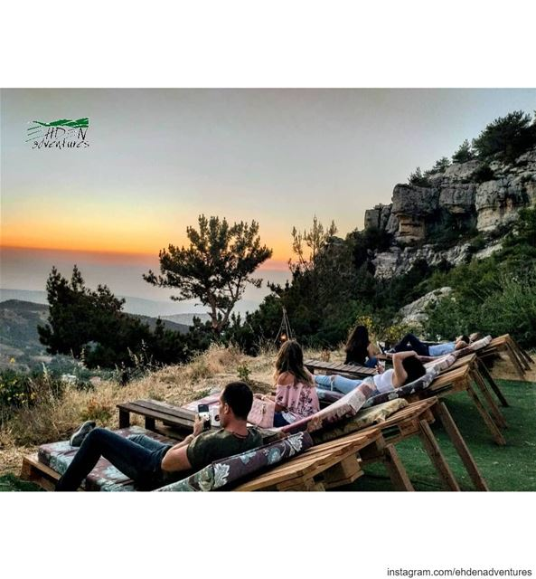sunset  ehden  ehdenadventures  chaiselounge  nature  escapethecity ... (Ehden Adventures)