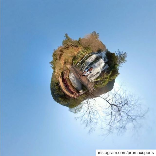 Little planet 🇱🇧 promaxsports  livelovelebanon  hikingculture ... (Ouyoun El Samak Waterfalls)