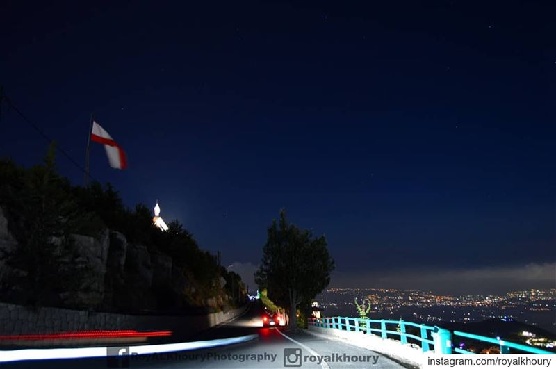 Ehden never sleep! LiveLoveEhden  RoyALKhouryPhotography  Lebanon  Night... (Ehden, Lebanon)