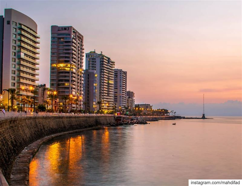 Sunset pysglb sea beirut clouds lebanon photography landscapephotography... (Beirut, Lebanon)